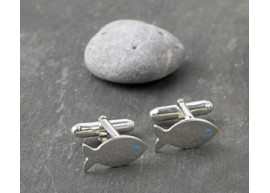 Blue Eye Fish Cufflinks