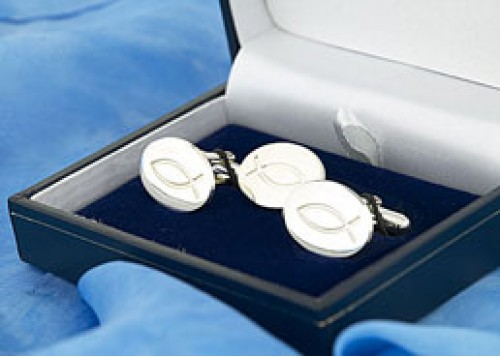 Jesus Fish Cufflinks