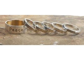 The Love/Faith Band Ring - wide