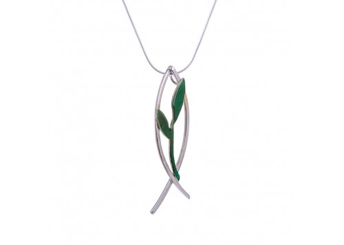 Olive Branch Fish Pendant